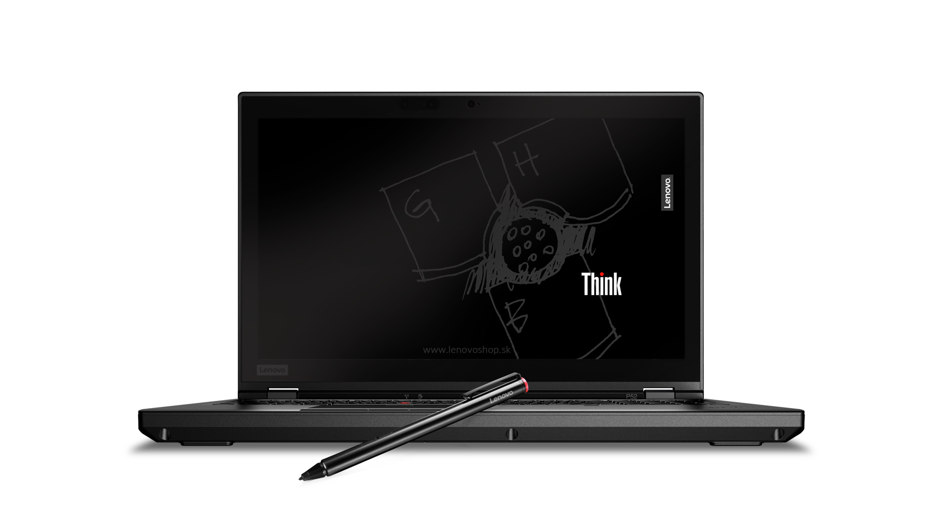 Thinkpad P52 UHD multi touch IRcam withPEN blksketchbckgrnd