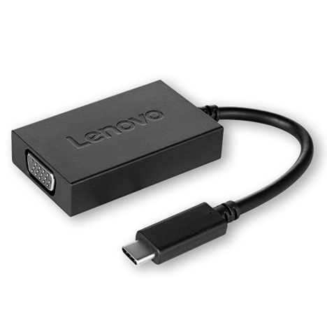 Lenovo USB C to VGA Plus Power Adapter (4X90K86568) 1