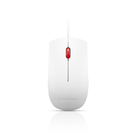 4y50t44377, Lenovo Essential USB Mouse White
